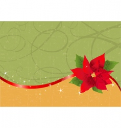 Christmas poinsettia background vector