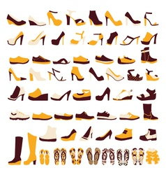 Icon set of mens and of womens shoes vector