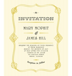 Classic wedding invitations vector