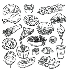 Collection of food vector
