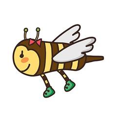 Icon bee vector