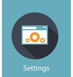 Settings flat concept icon vector