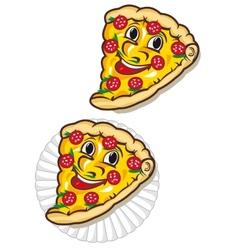 Appetizing pizza vector
