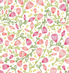 Pink daisies pattern vector
