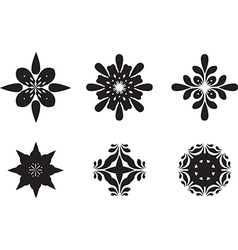 Abstract flower symbols vector