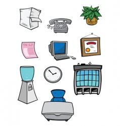 Office stuff vector