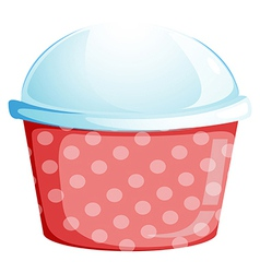 A dotted disposable container vector