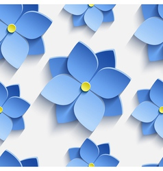 Seamless pattern with blue summer flowers violets vector