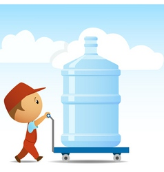Water delivery man vector