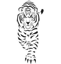 White tiger thumb vector
