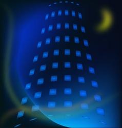 Modern building night vector