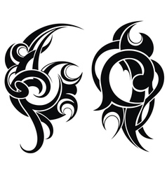 Maori styled tattoo pattern vector