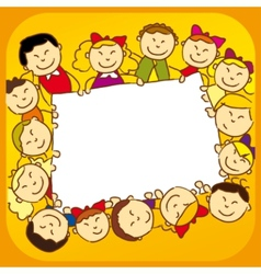 Kids with sign vector