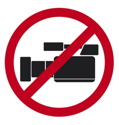 Do not record video sign vector