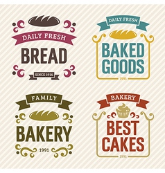 Retro bakery labels vector