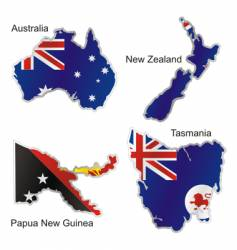 Oceania maps vector