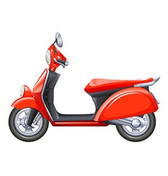 A red scooter vector