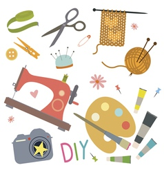 Hobby tools set vector