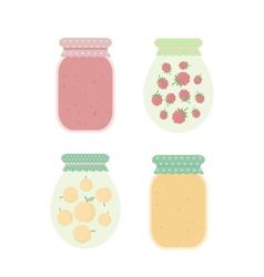 Jam in jars vector