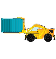 Container handler forklift vector
