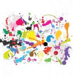 Grunge paint splats vector