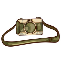 A coloured sketch of a photographers camera vector