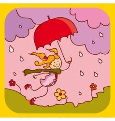 Spring rain vector