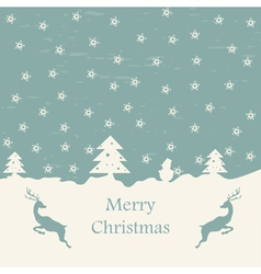 Christmas card retro eps10 vector