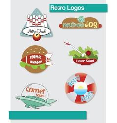 Retro logos vector