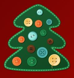 Button christmas tree vector