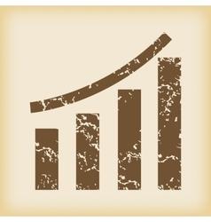Grungy bar graphic icon vector