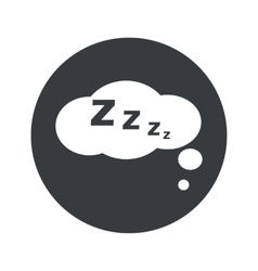 Monochrome round sleeping icon vector