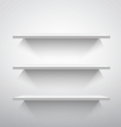 Empty shelves vector