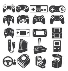 Gaming icon set vector