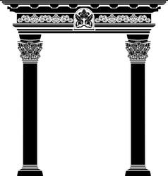 Classic arch stencil vector