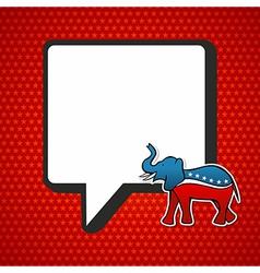 Usa elections republican politic message vector