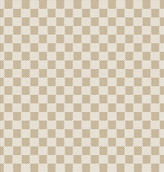 Beige seamless fabric texture pattern vector