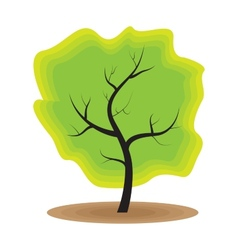 Green tree nature ecology vector
