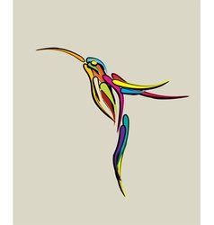 Stylized humming bird vector