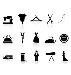 Tailor icons set vector