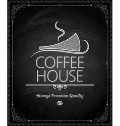 Chalkboard coffee vector