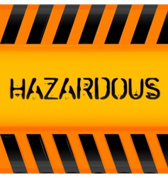 Hazardous icon vector