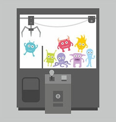 Claw crane game machine vector