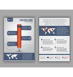 Flyer design with elements of infographics vector