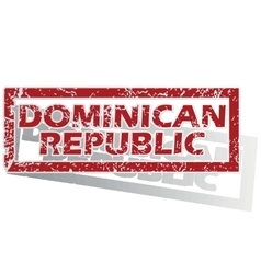 Dominican republic outlined stamp vector