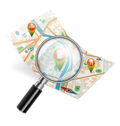 Navigation search concept vector