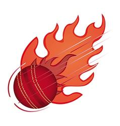 Flaming baseball vector