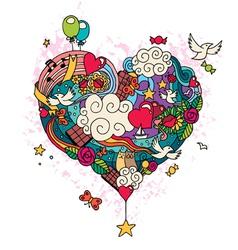 Love doodle vector