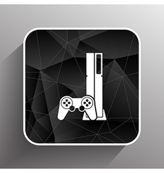 Game controller icon video gaming game electronics vector