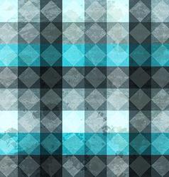 Blue vintage rombuses seamless pattern vector